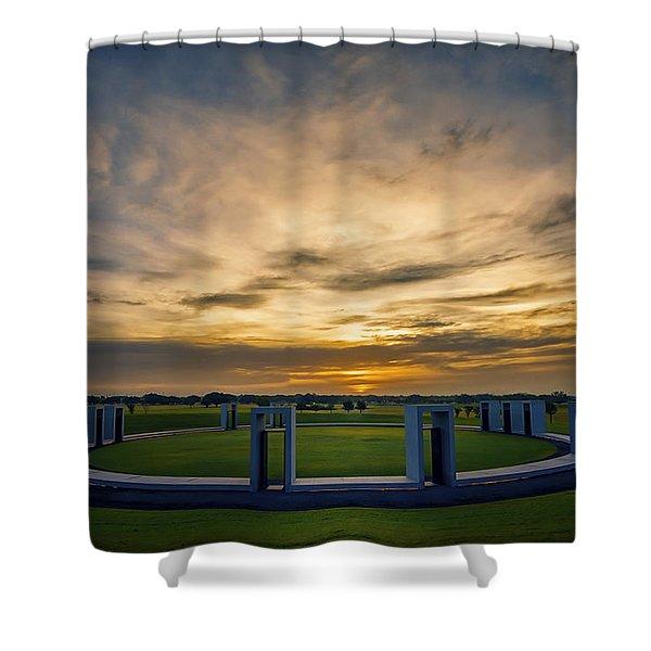 Aggie Bonfire Memorial Shower Curtain