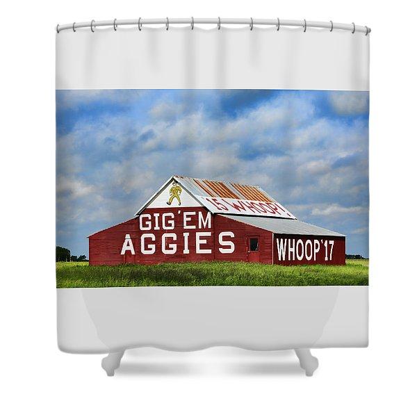Aggie Nation Barn Shower Curtain