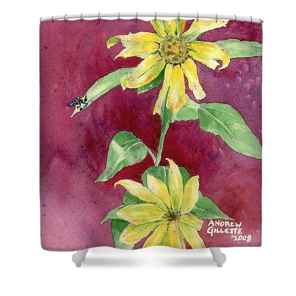 Ah Sunflowers Shower Curtain