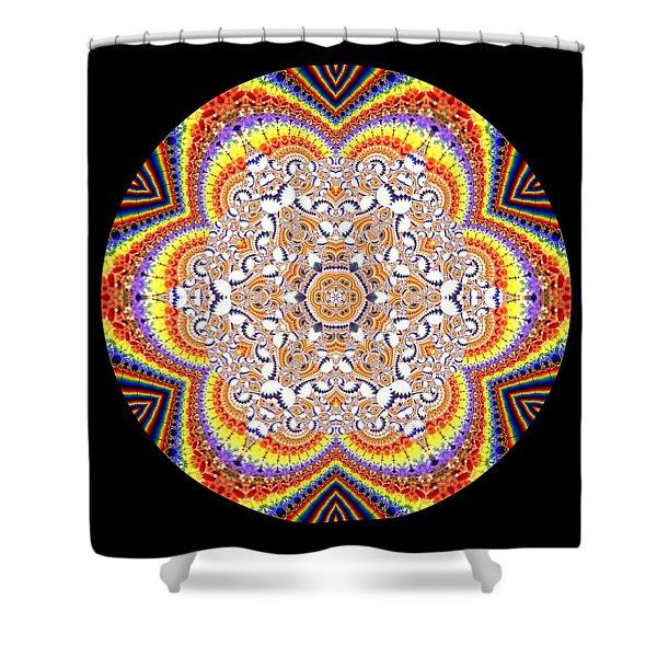 Shower Curtain featuring the digital art Ahau 6.2 by Robert Thalmeier
