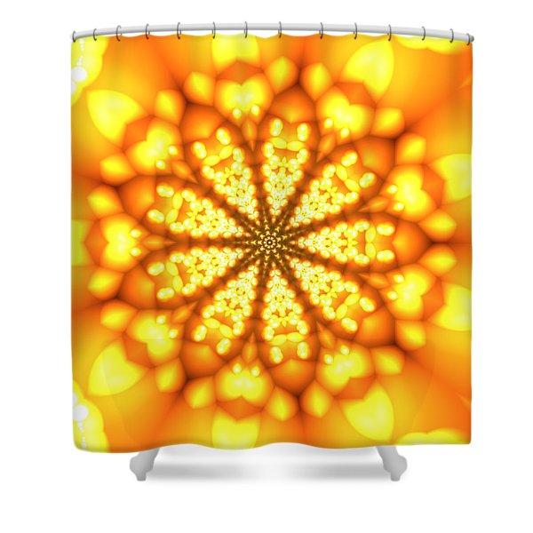 Shower Curtain featuring the digital art Ahau 9 by Robert Thalmeier