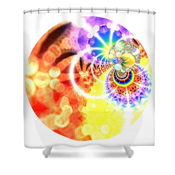 Shower Curtain featuring the digital art Ahau Dots by Robert Thalmeier