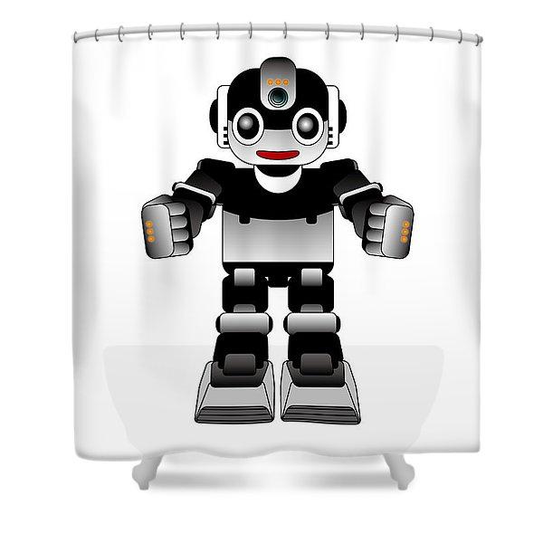 Ai Robot Shower Curtain