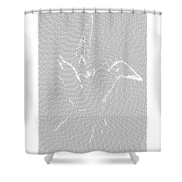 Shower Curtain featuring the digital art Aibird by Robert Thalmeier