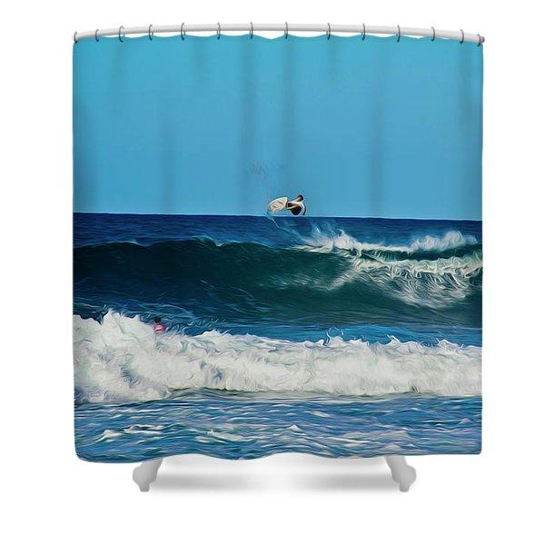 Air Bourne Shower Curtain