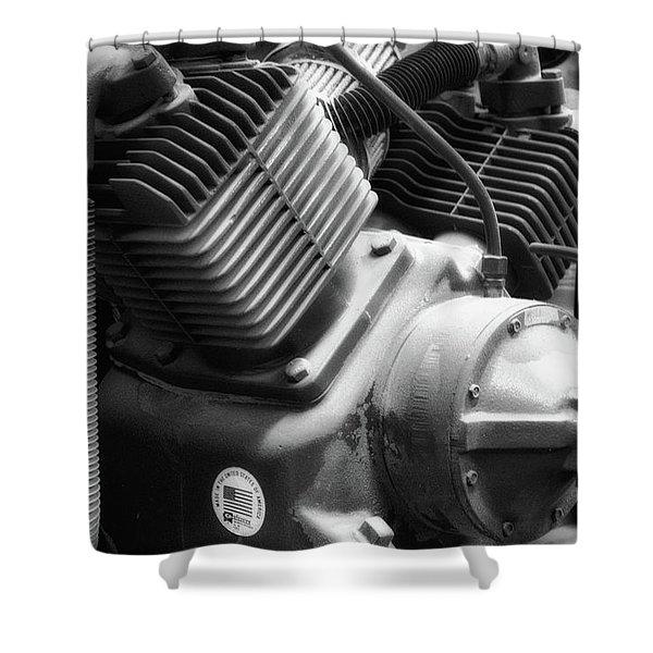 Air Compressor Bw Shower Curtain