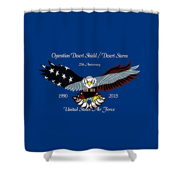 Air Force Desert Storm Shower Curtain