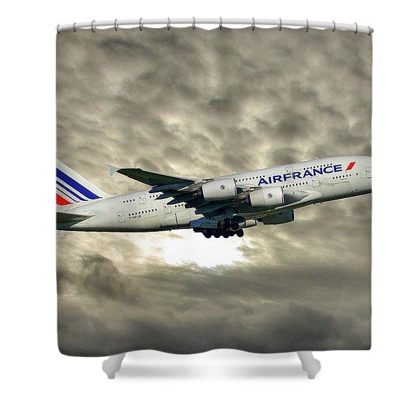Air France Airbus A380-861 115 Shower Curtain