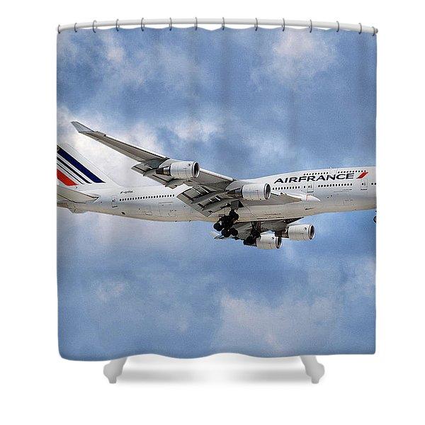 Air France Boeing 747-428 118 Shower Curtain