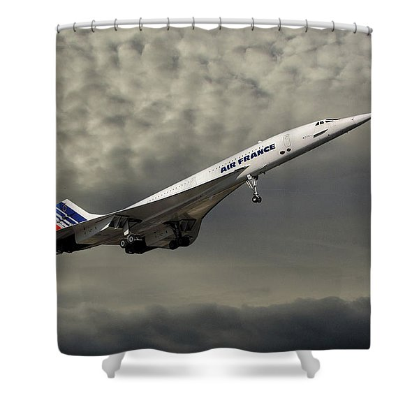 Air France Concorde 116 Shower Curtain