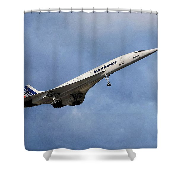 Air France Concorde 117 Shower Curtain