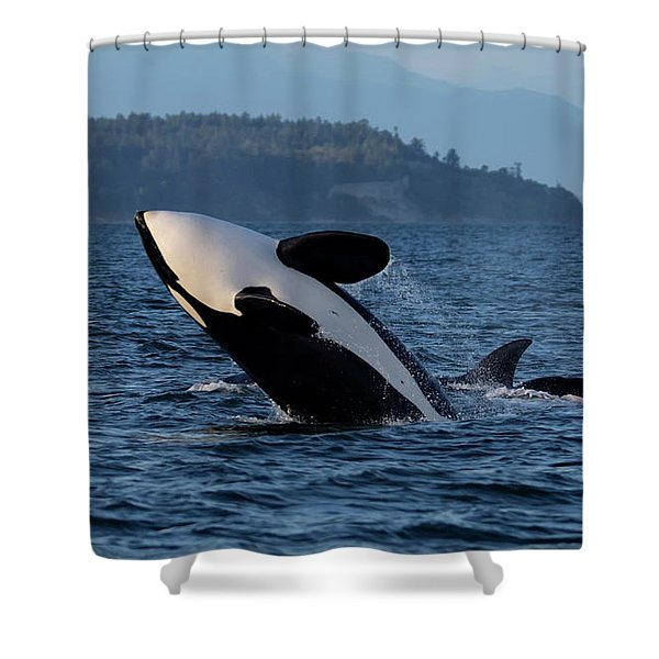 Shower Curtain featuring the photograph Air Time by Randy Hall