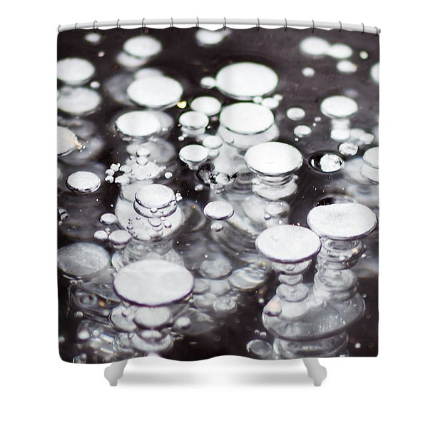 Air Trapped In Ice Shower Curtain