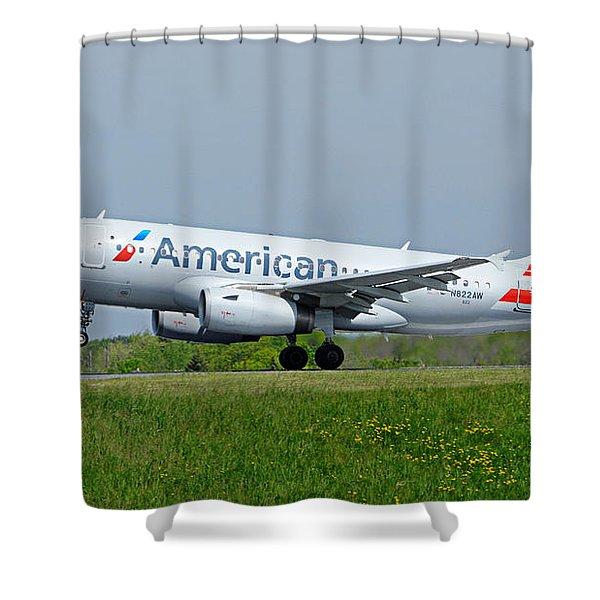 Airbus A319 Shower Curtain
