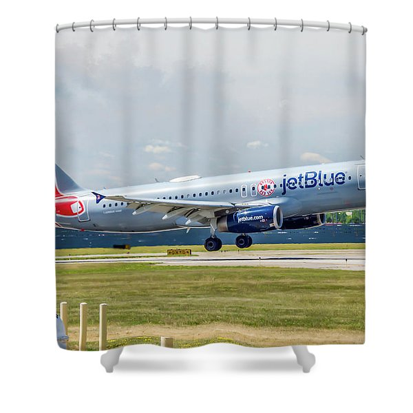 Airbus A320 Boston Strong Shower Curtain