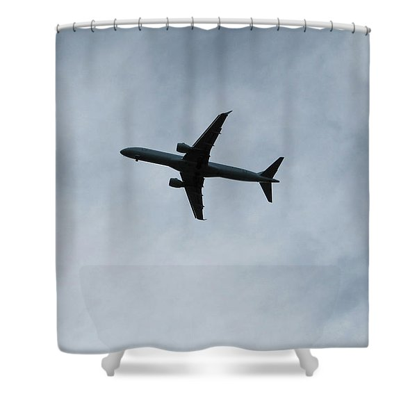 Airplane Silhouette Shower Curtain