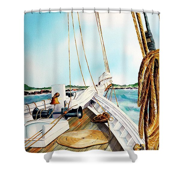 A.j. Meerwald-coming Home Shower Curtain