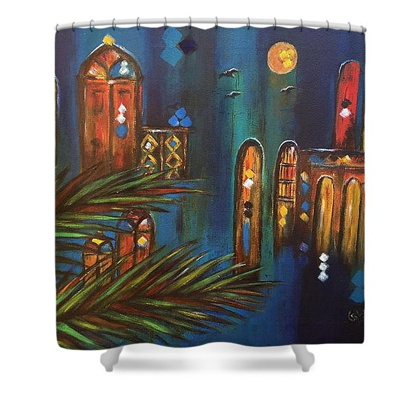 Good Evening Baghdad Shower Curtain