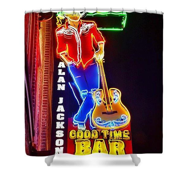 Aj's Good Time Bar Shower Curtain