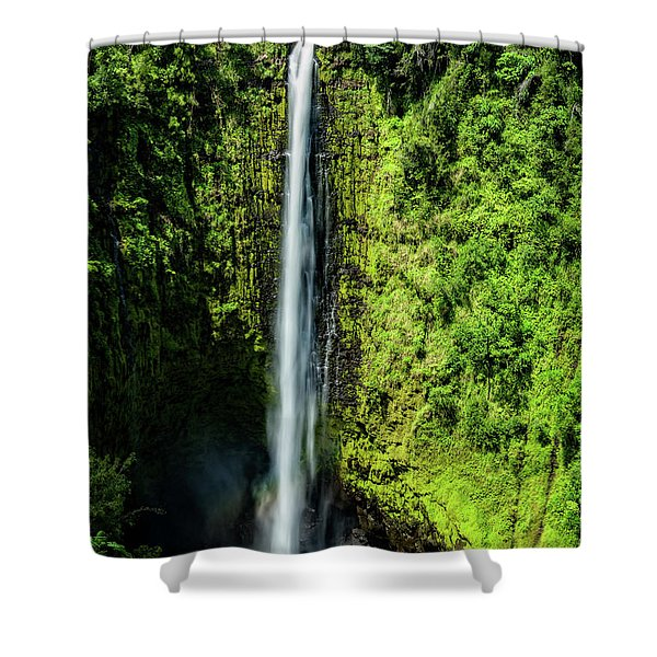 Akaka Falls With Rainbow Shower Curtain