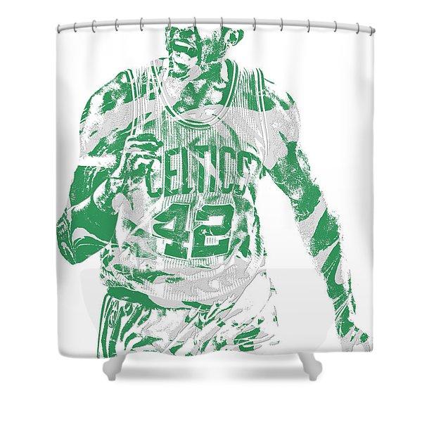 Al Horford Boston Celtics Pixel Art 7 Shower Curtain