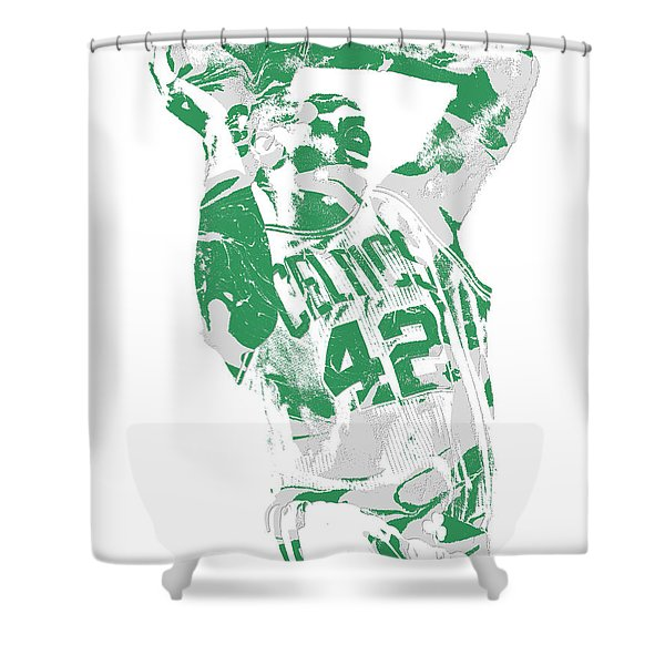 Al Horford Boston Celtics Pixel Art 8 Shower Curtain