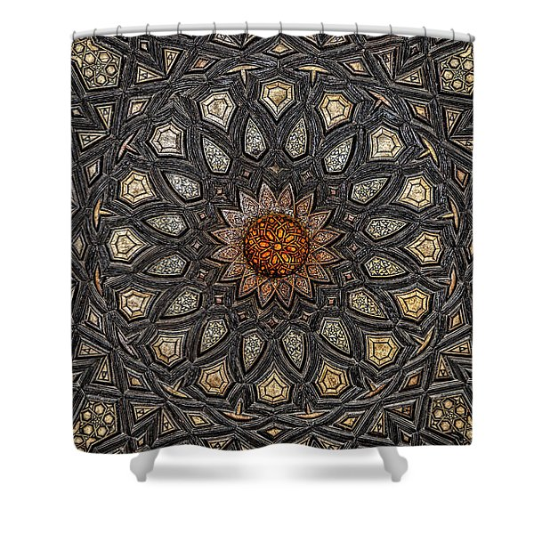 Al Ishaqi Wood Panel Shower Curtain