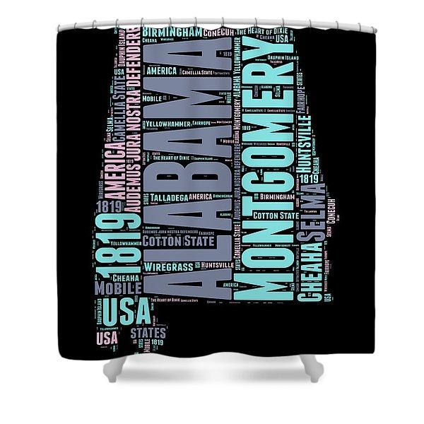 Alabama Word Cloud 1 Shower Curtain