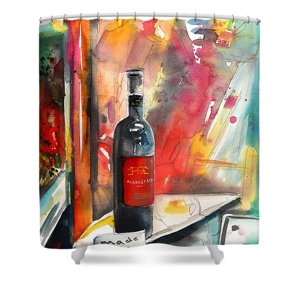 Alabastro Wine From Italy Shower Curtain by Miki De Goodaboom