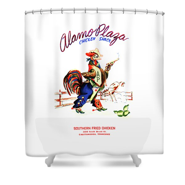Alamo Plaza Tennessee 1950s Shower Curtain