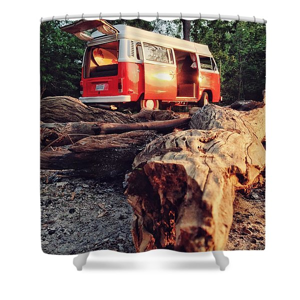 Alani By The River Shower Curtain