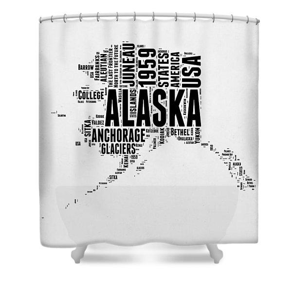 Alaska Word Cloud 2 Shower Curtain