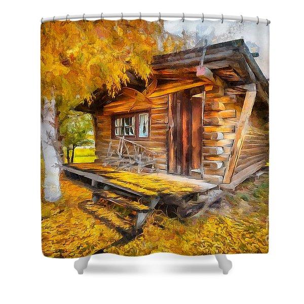 Alaskan Autumn Shower Curtain