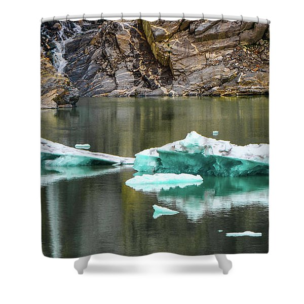 Alaskan Icebergs Shower Curtain