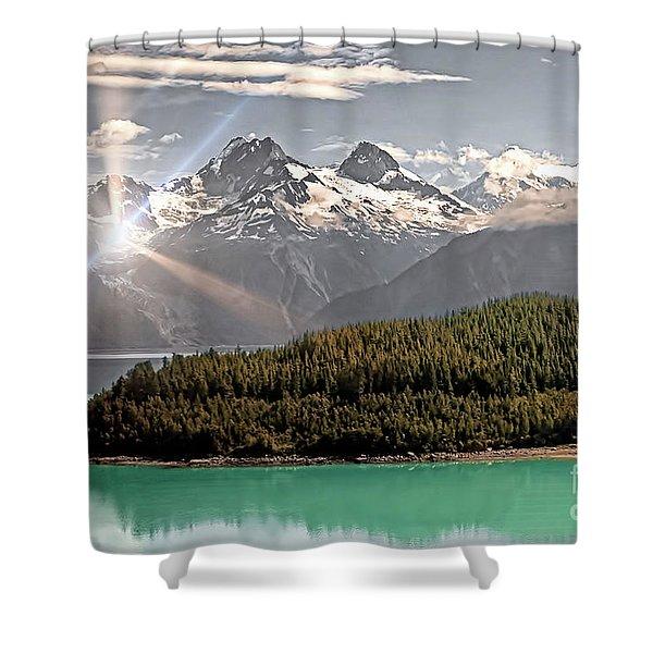 Alaskan Mountain Reflection Shower Curtain