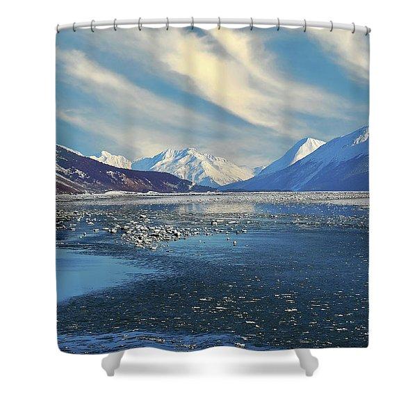Alaskan Winter Landscape Shower Curtain