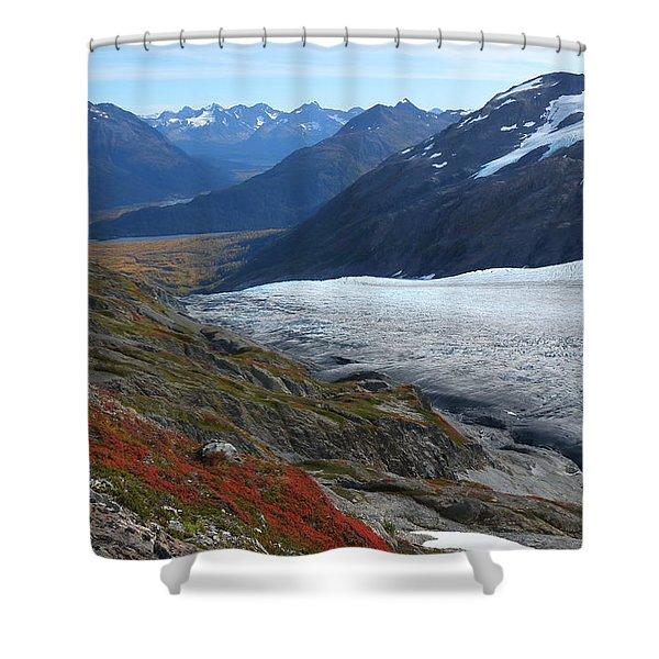 Alaska's Exit Glacier Shower Curtain