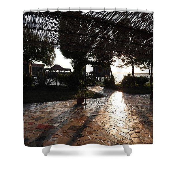 Albanian Landscape Shower Curtain