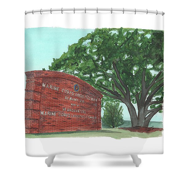 Albany Logistics Base Welcme Shower Curtain
