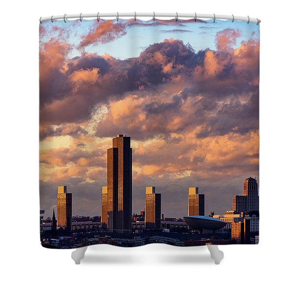 Albany Sunset Skyline Shower Curtain