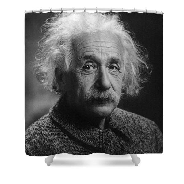 Albert Einstein, 1947. Age 68. Shower Curtain