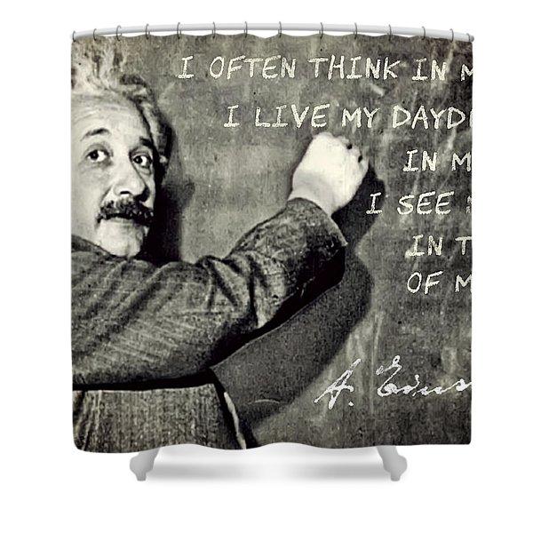 Albert Einstein, Physicist Who Loved Music Shower Curtain