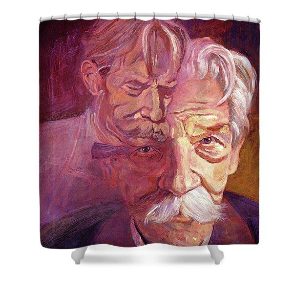 Albert Schweitzer Portrait Shower Curtain