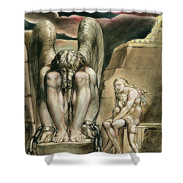 Albion's Angel, Frontispiece To America, A Prophecy, Circa 1821 Shower Curtain