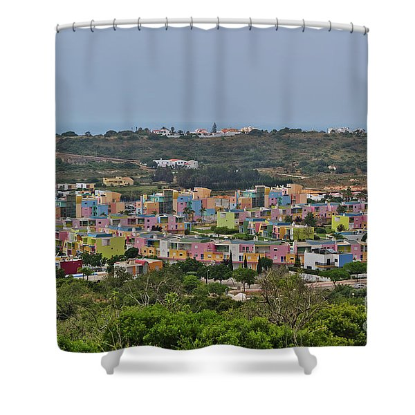 Albufeira Marina View Shower Curtain
