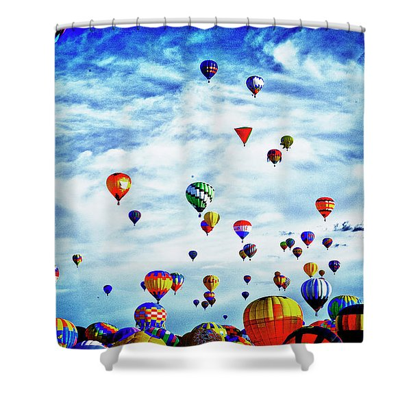 Albuquerque Blues Shower Curtain