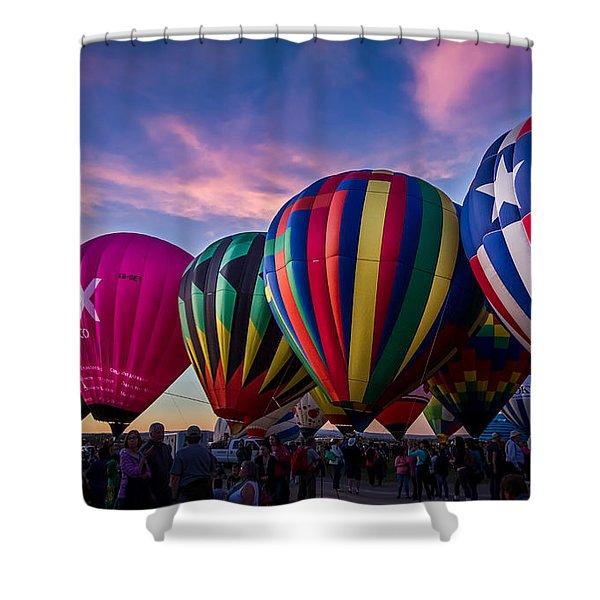 Albuquerque Hot Air Balloon Fiesta Shower Curtain