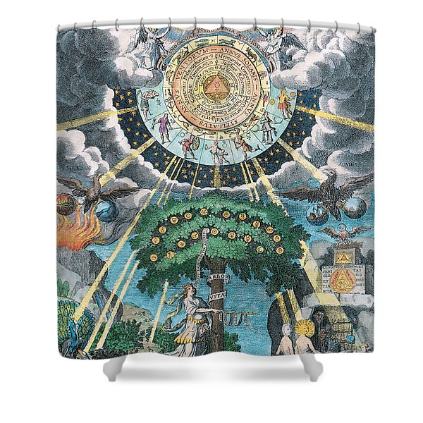 Alchemy Coagulation Shower Curtain