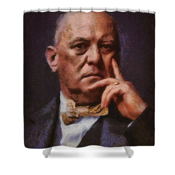 Aleister Crowley, Infamous Occultist Shower Curtain