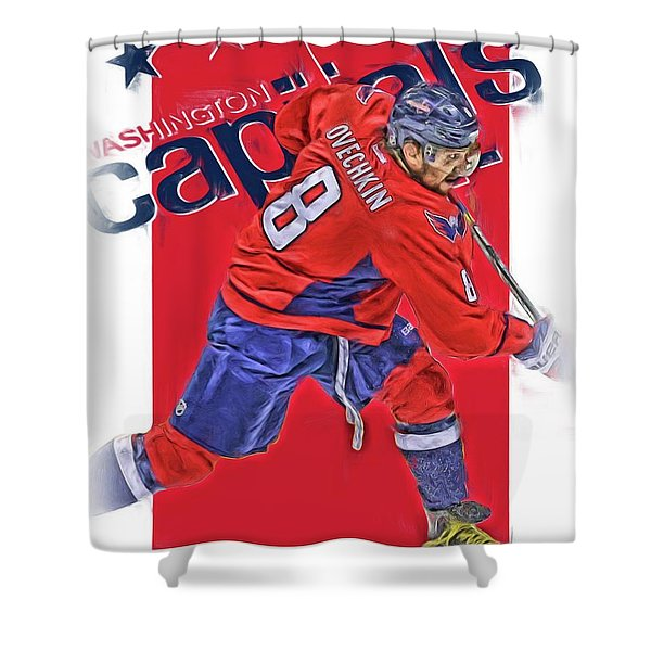 Alex Ovechkin Washington Capitals Oil Art Shower Curtain